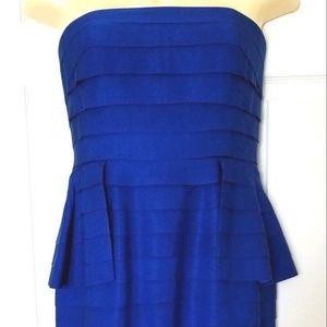 CARMEN MARC VALVO Dress Size 10 Royal Blue